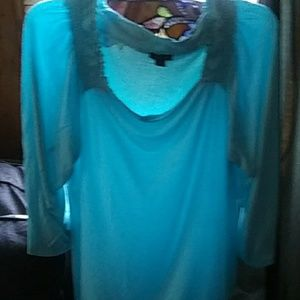 3/4 length top.  Mint.  Can be worn off shoulder